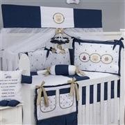 Quarto para Bebê Elegance Ursinho Marinheiro Marinho