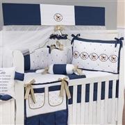 Quarto para Bebê sem Cama Babá Elegance Cavalinho de Balanço Marinho