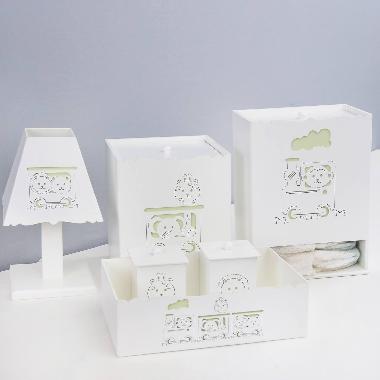 Kit Higiene Trenzinho Verde