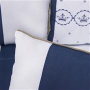Almofadas Decorativas Elegance Coroa Marinho