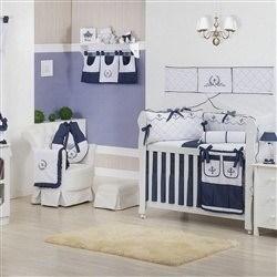 Quarto para Bebê sem Cama Babá Versailles Marinho