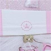 Kit Berço Elegance Coroa Rosa