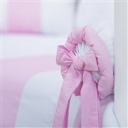 Kit Cama Babá Elegance Coroa Rosa