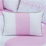 Almofada Retangular Elegance Coroa Rosa