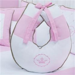 Almofada para Amamentação Elegance Coroa Rosa