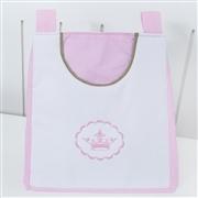 Porta Fraldas Varão Elegance Coroa Rosa