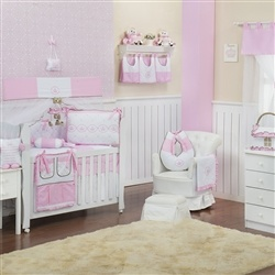 Quarto para Bebê sem Cama Babá Elegance Coroa Rosa