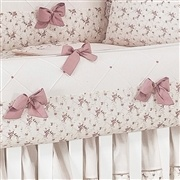 Kit Berço Princesa Clássica Floral Rosê