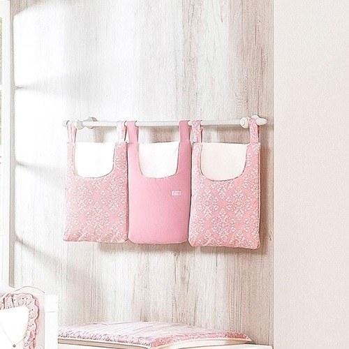 Porta Fraldas Varão Princesa Clássica Rosa Antigo