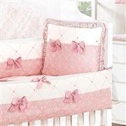 Quarto para Bebê sem Cama Babá Princesa Clássica Rosa Antigo