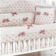 Quarto para Bebê sem Cama Babá Princesa Clássica Floral Rosê