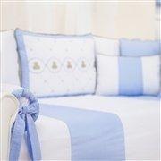 Kit Cama Babá Elegance Teddy Azul