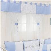 Cortina Elegance Teddy Azul