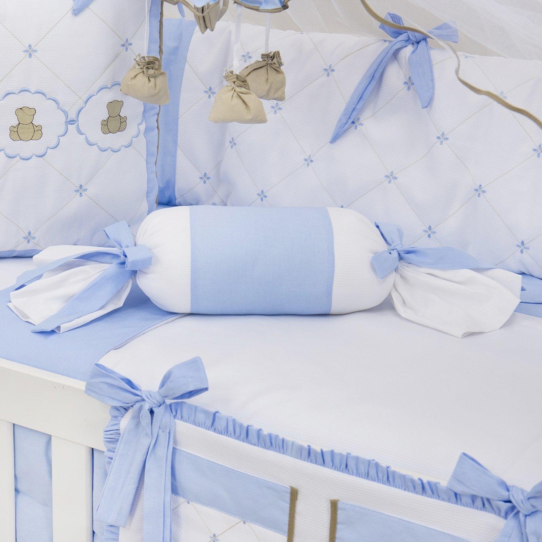 Almofada Apoio Bala Elegance Teddy Azul