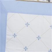 Almofada Bordada Elegance Teddy Azul
