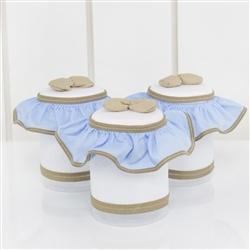 Jogo de Potes Elegance Teddy Azul