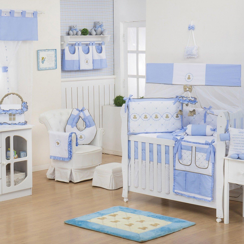 Quarto para Bebê sem Cama Babá Elegance Teddy Azul