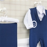 Saída Maternidade Baby Jumper Marinho - Tamanho Único