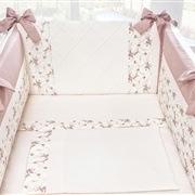 Kit Mini Berço Doce Encanto Princesa Clássica Floral Rosê