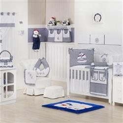 Quarto para Bebê sem Cama Babá Baby Boy Navy Marinho