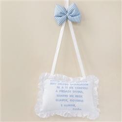 Enfeite Oração Santo Anjo Baby Boy Navy Azul