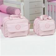 Conjunto de Bolsas Maternidade Inicial do Nome Personalizada Rosa