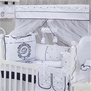 Quarto para Bebê sem Cama Babá Personnalité Marinho com Inicial do Nome Personalizada