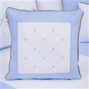 Almofada Bordada Elegance Cavalinho de Balanço Azul