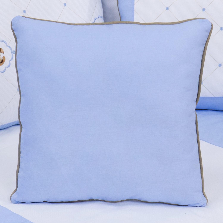 Almofada Lisa Elegance Cavalinho de Balanço Azul