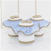 Jogo de Potes Elegance Cavalinho de Balanço Azul
