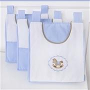 Prateleira Completa Elegance Cavalinho de Balanço Azul