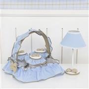 Quarto para Bebê Elegance Cavalinho de Balanço Azul