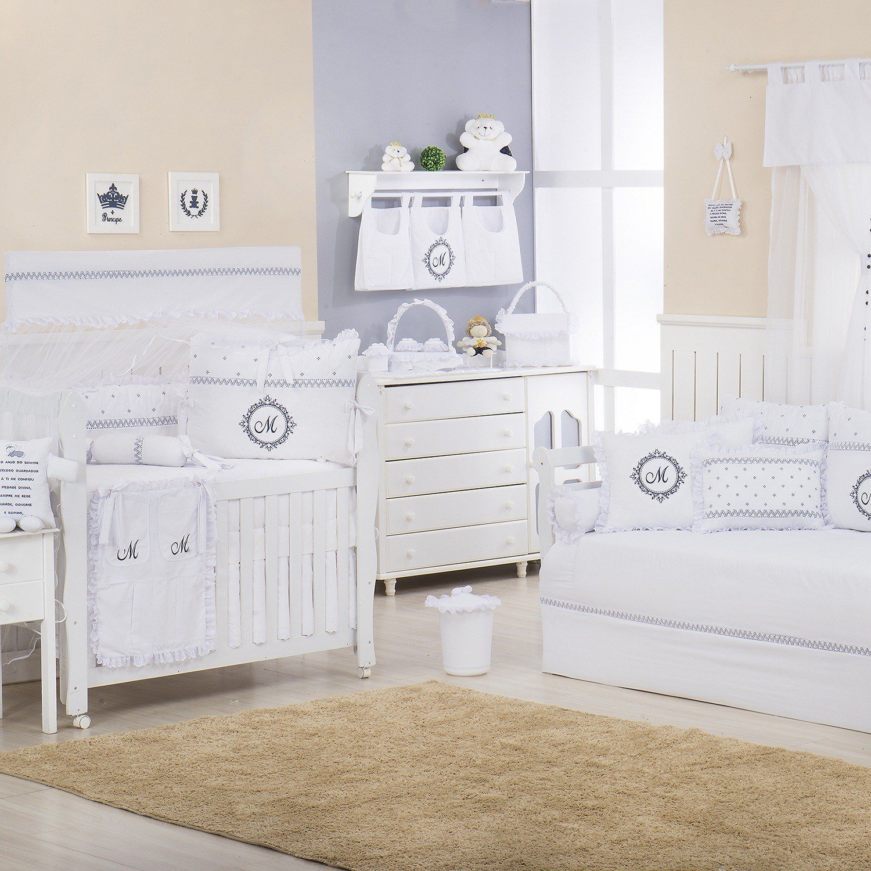 Quarto para Bebê Marselle Marinho com Inicial do Nome Personalizada