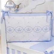 Kit Berço Elegance Coroa Azul