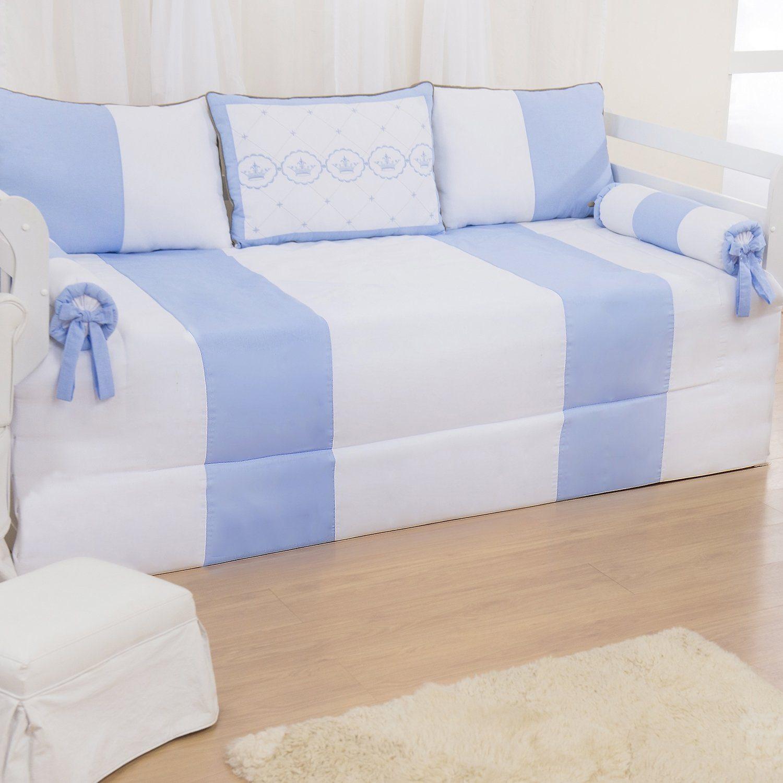 Kit Cama Babá Elegance Coroa Azul