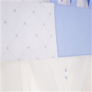 Cortina Elegance Coroa Azul