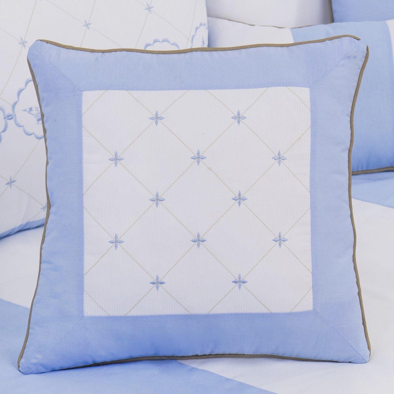 Almofada Bordada Elegance Coroa Azul