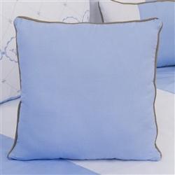 Almofada Lisa Elegance Coroa Azul