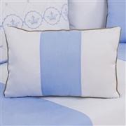 Almofada Retangular Elegance Coroa Azul