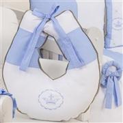 Quarto para Bebê sem Cama Babá Elegance Coroa Azul
