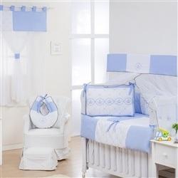 Quarto Econômico para Bebê sem Cama Babá Elegance Coroa Azul