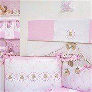 Kit Berço Elegance Teddy Rosa