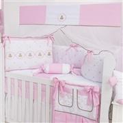 Quarto para Bebê sem Cama Babá Elegance Teddy Rosa