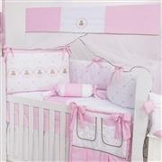 Quarto para Bebê Elegance Teddy Rosa