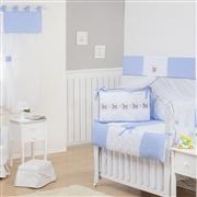 Quarto Econômico para Bebê sem Cama Babá Elegance Cavalinho de Balanço Azul
