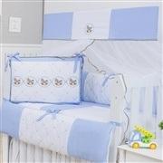 Quarto Econômico para Bebê Elegance Cavalinho de Balanço Azul