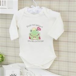 Body Manga Longa Sapo Príncipe Palha Recém-nascido a 3 meses