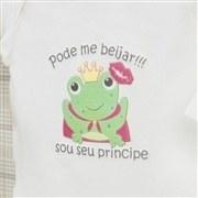 Body Manga Longa Sapo Príncipe Palha 12 a 15 Meses