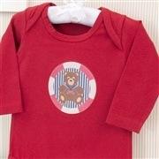 Body Manga Longa Urso Marinheiro Vermelho Recém-nascido a 3 meses