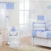 Quarto Econômico para Bebê sem Cama Babá Elegance Teddy Azul